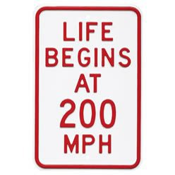 Life begins at 200 mph