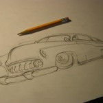 Merc Sled-line drawing