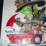 Zombie 666 Fire Fighter